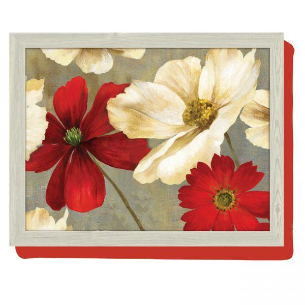 schootkussen-rood-witte-bloem